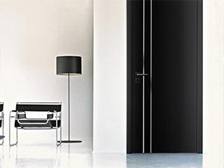 Czarne drzwi wewnętrzne nowoczesne